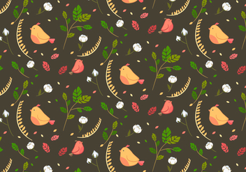 Cotton Floral Pattern Vector - vector gratuit #346041