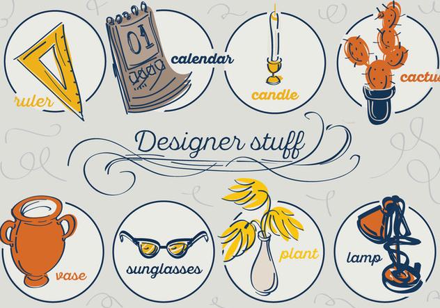 Free Designer Stuff Vector Background - Free vector #346051