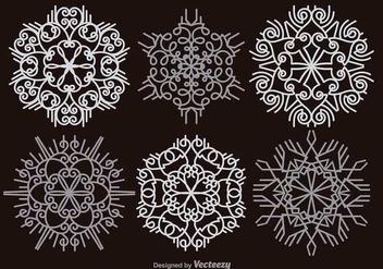 White snowflakes - vector gratuit #346081