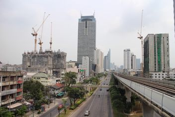 High-rise building under construction, Bangkok Thailand - image gratuit #346241