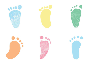 Free Baby Footprints Vector illustrations - Free vector #346351
