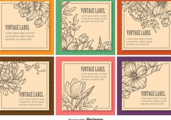 Floral Vintage Labels - Kostenloses vector #346451