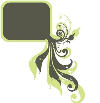 Swirls Decoration Square Frame - vector gratuit(e) #346511