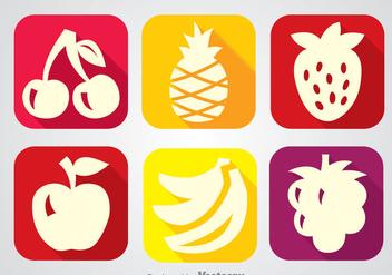 Fruits Long Shadow Icon Vectors - vector #346751 gratis