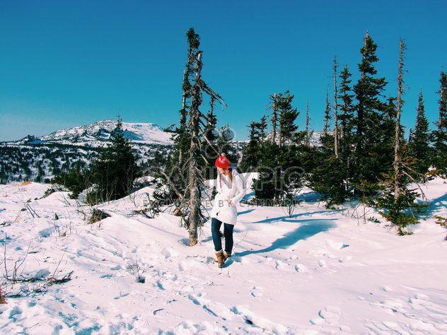 Jeune femme en montagne hivernale - image gratuit #346951