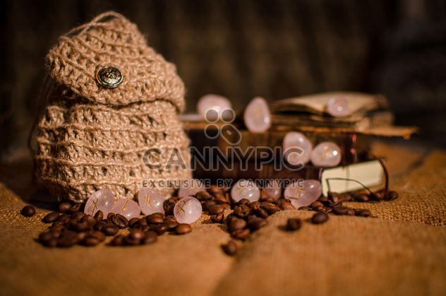 Old books, runes and coffee beans - бесплатный image #346961