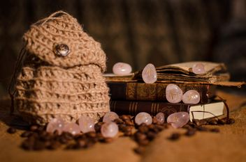 Old books, runes and coffee beans - бесплатный image #346971