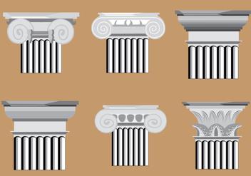 Classic Roman Pillar Vectors - Free vector #347101