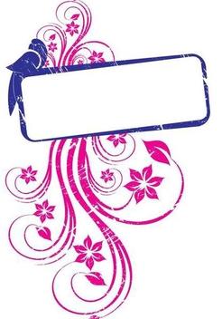 Grunge Floral Frame Parrot - vector gratuit #347141