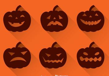 Pumpkin Silhouette - Free vector #347341