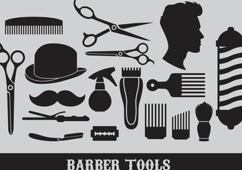 Barber Tools Vectors - Free vector #347381