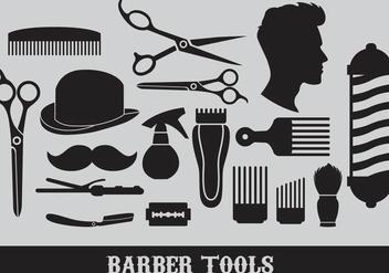 Barber Tools Vectors - Kostenloses vector #347381