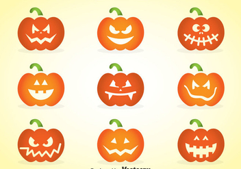 Face Of Pumpkins - vector gratuit #347411