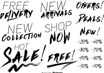 Modern price discount lettering vectors - vector #347501 gratis