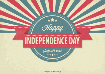 Vintage Independence Day Illustration - Free vector #347571