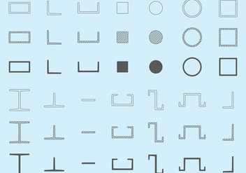 Steel Beam Vectors - Free vector #347621
