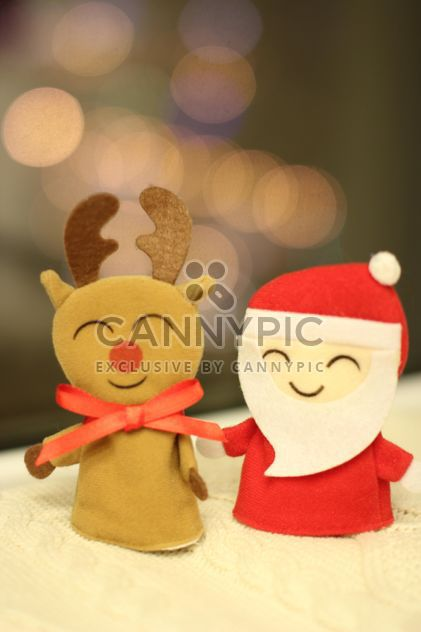 Christmas decorative deer and Santa Claus - Free image #347831
