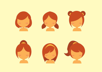 Free Kids Hair Style Vector - Free vector #348071