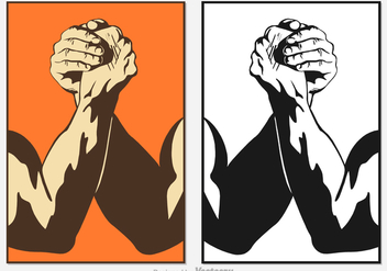 Free Arm Wrestling Vector - Free vector #348141