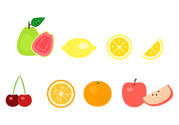 Fruit Icons - vector gratuit #348211