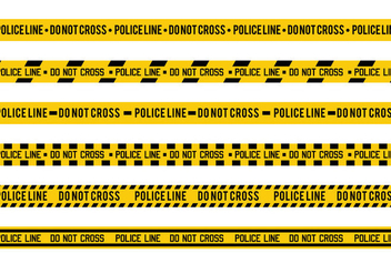 Police Line Vector - Free vector #348681