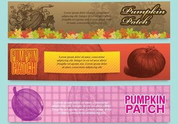 Pumpkin Patch Banners - Free vector #348741