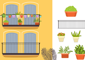 Yellow Building Vectors - vector #348771 gratis