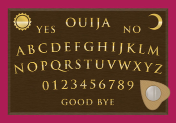 Ouija Board Vector - Kostenloses vector #348881