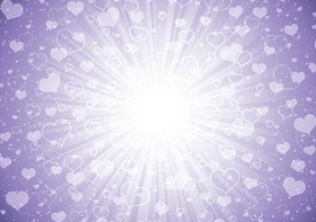 Bursting Light Heart Purple Background - Kostenloses vector #348891
