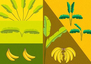 Banana Tree Vectors - Kostenloses vector #348971