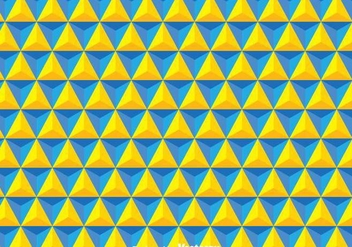 Yellow And Blue Triangles Background - vector gratuit(e) #349151