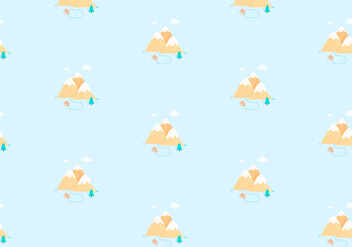 Mountain pattern background - Free vector #349291