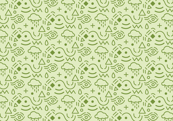 Abstract pattern background with green shapes - vector gratuit #349311