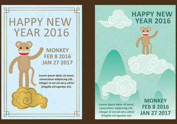 New Chinese Year Vectors - vector gratuit #349321