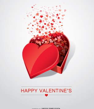 Valentine's Day heart open shaped gift - vector gratuit #349401