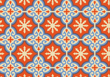 Orange Moroccan Pattern Background Vector - Free vector #349501