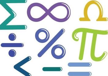 Free Math Symbols Vectors - Free vector #349531