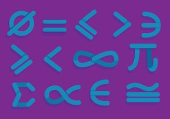 Math Symbols Vector - Free vector #349581