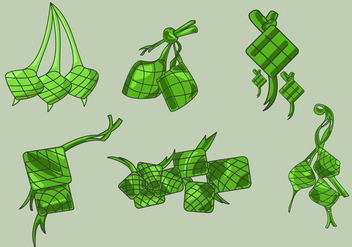 Hand Drawn Ketupat Vector - бесплатный vector #349661