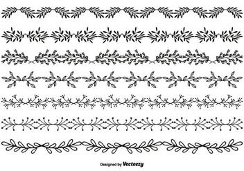 Hand Drawn Style Vector Border Set - Kostenloses vector #349821