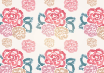 Vector Watercolor Rose Pattern - Kostenloses vector #349971