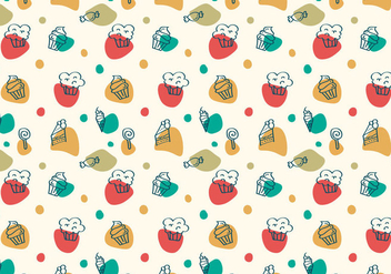 Free Cake and Dessert Vector Patterns - Free vector #349981