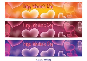 Valentine's Day Vector Banner Pack - Free vector #350151