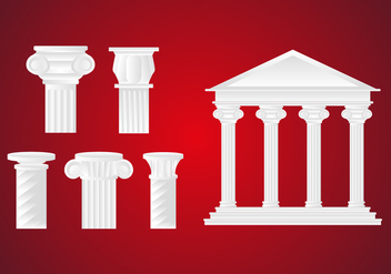 Roman Pillar Illustration Vector - Free vector #350331