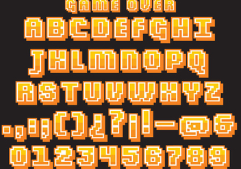 Retro Video Game Type Vector - Free vector #350471