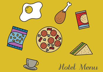 Hotel Menu Vector Pack - бесплатный vector #350491