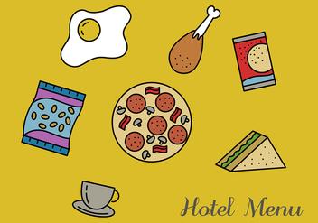 Hotel Menu Vector Pack - Free vector #350491