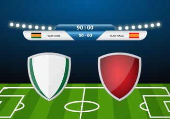 Free Soccer Match Decor Vector - vector gratuit(e) #350511