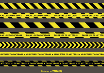 Police Lines Vector Set - Free vector #350621