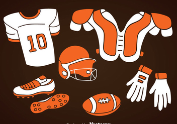 Football Element Icons Set - Free vector #350731